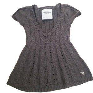 Abercrombie Kids gray knit short sleeve shirt XL